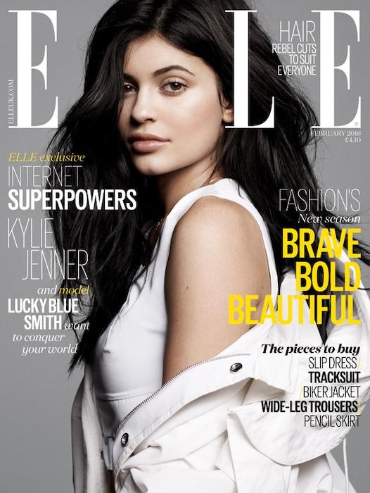 Kylie Jenner, Elle UK, EMBARGO until 4pm PST 12/29/15