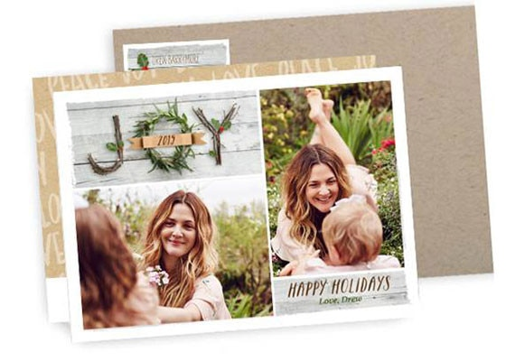 Drew Barrymore, Holiday Card