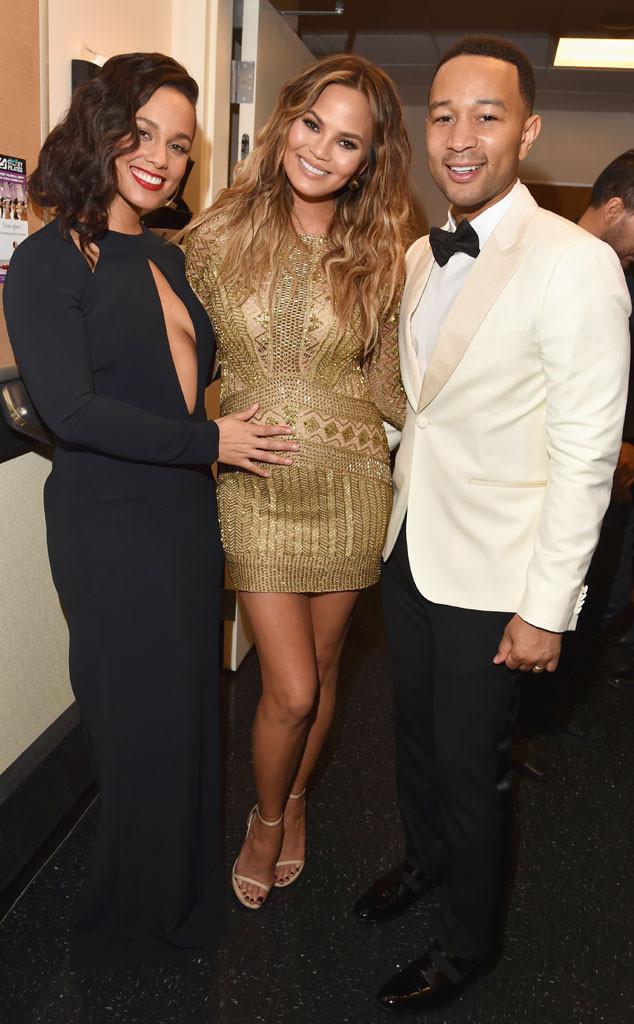 Alicia Keys, John Legend, Chrissy Teigen