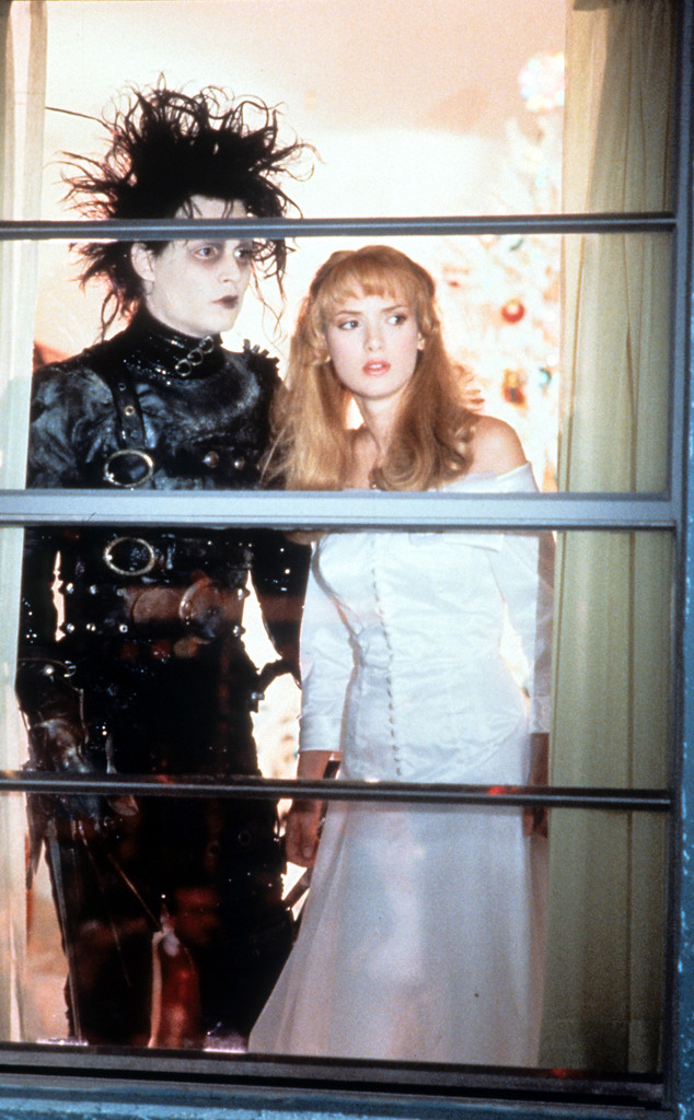 Johnny Depp, Winona Ryder, Edward Scissorhands