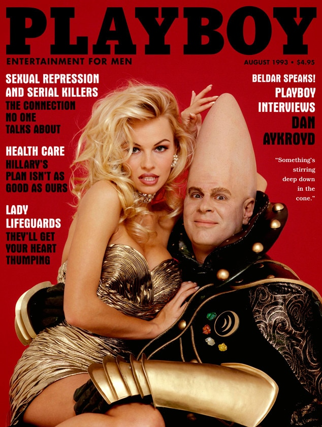 August 1993 from Pamela Andersons Playboy Covers | E! News