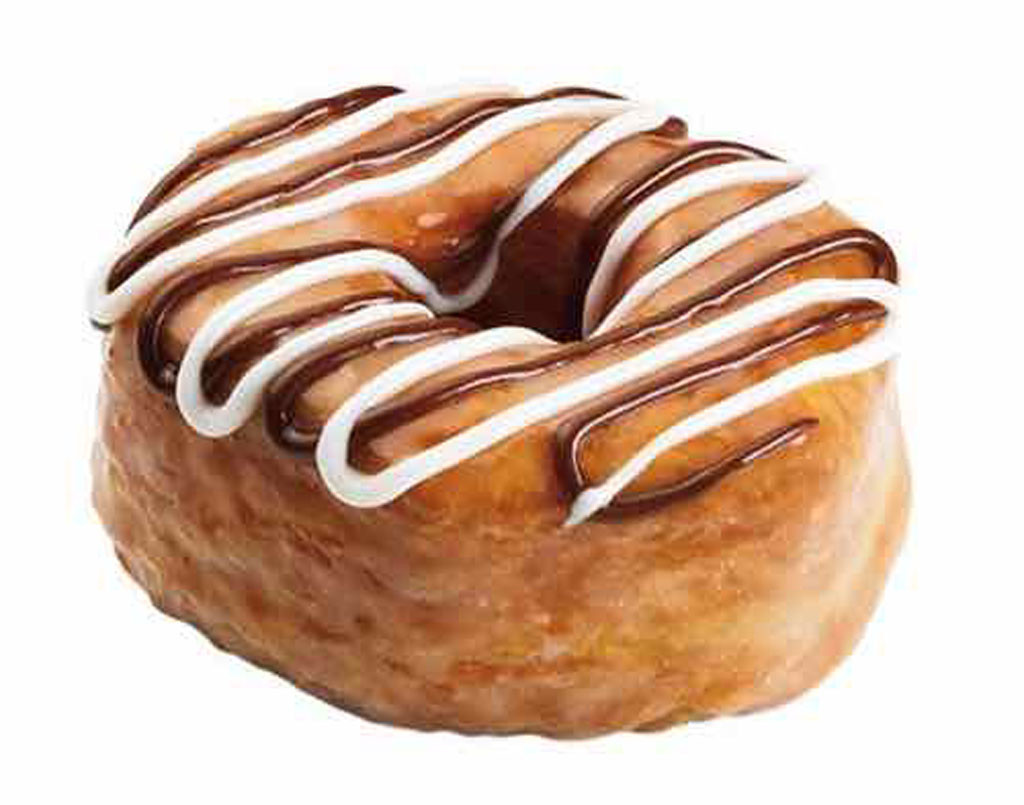 Fast Foods, Fudge Croissant Donut from Dunkin' Donuts