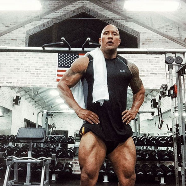 Iron Gym Lisburn Instagram: Dwayne The Rock Johnson's Legs Are Out Of Control