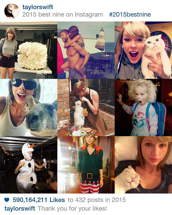 Instagram, Best 9 in 2015