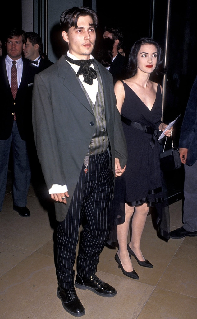 Johnny Depp, Winona Ryder, 1991 Golden Globes
