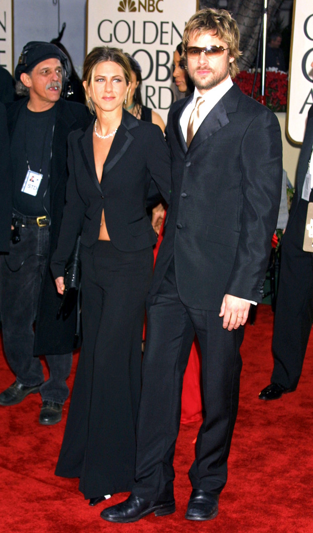 Flashback: Couples at the Golden Globes, Jennifer Aniston, Brad Pitt