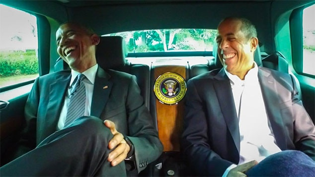 Celebs With Obama, Jerry Seinfeld, Barack Obama