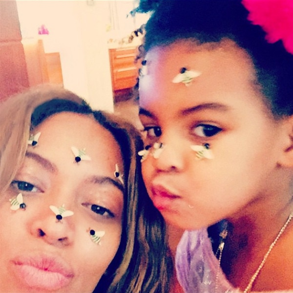 Beyonce, Blue Ivy, Instagram, Valentine's Day