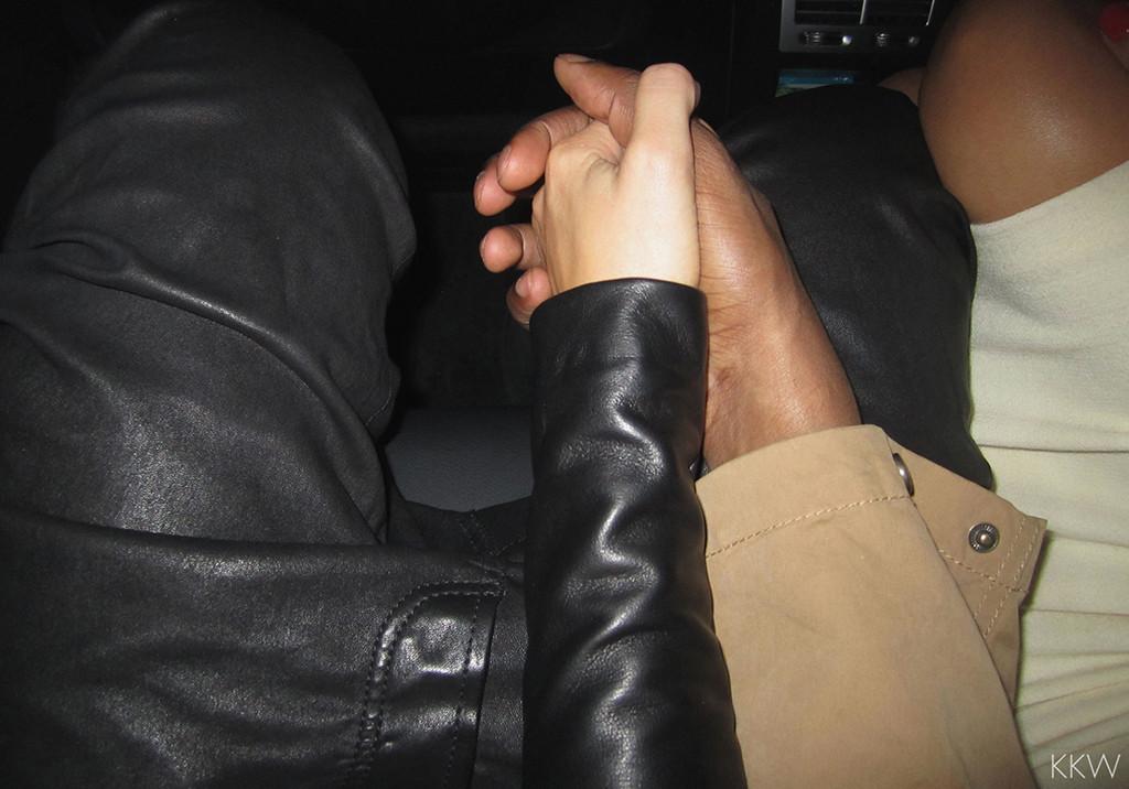 Kim Kardashian, Kanye West, Holding Hands