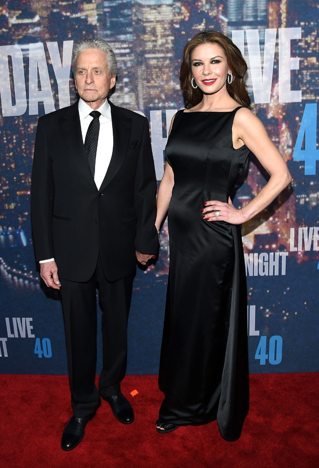 Michael Douglas, Catherine Zeta-Jones, SNL 40th Anniversary Celebration