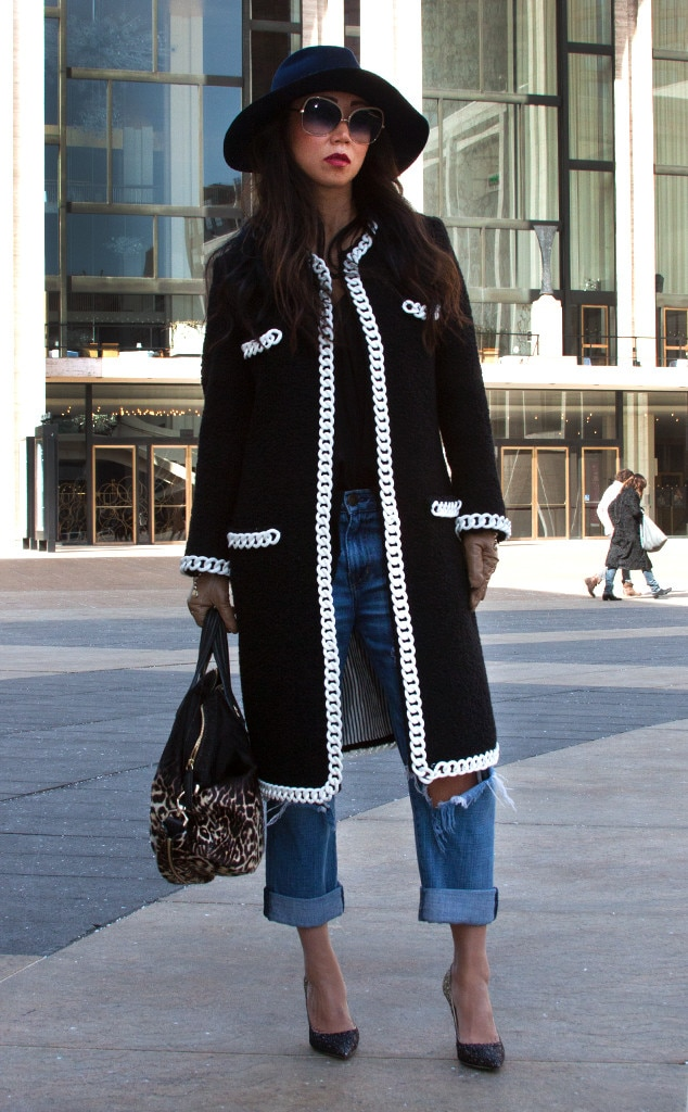 Janet Mandell From Street Style At New York Fashion Week