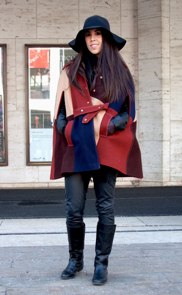 Liz calvario from street style at new york fashion week fall 2015 e news france Street style ny fashion week fall 2015