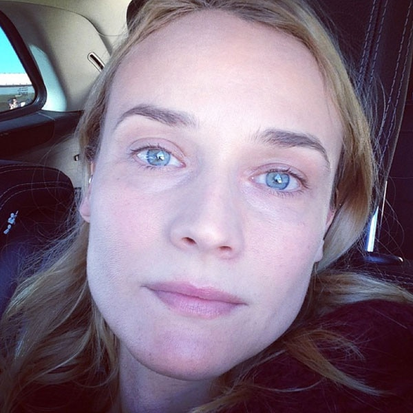 diane kruger 38 shares makeupfree selfie i dont know
