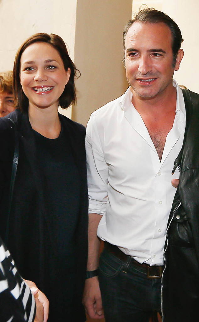 The artist 39 s jean dujardin and nathalie p chalat welcome for Dujardin patrick