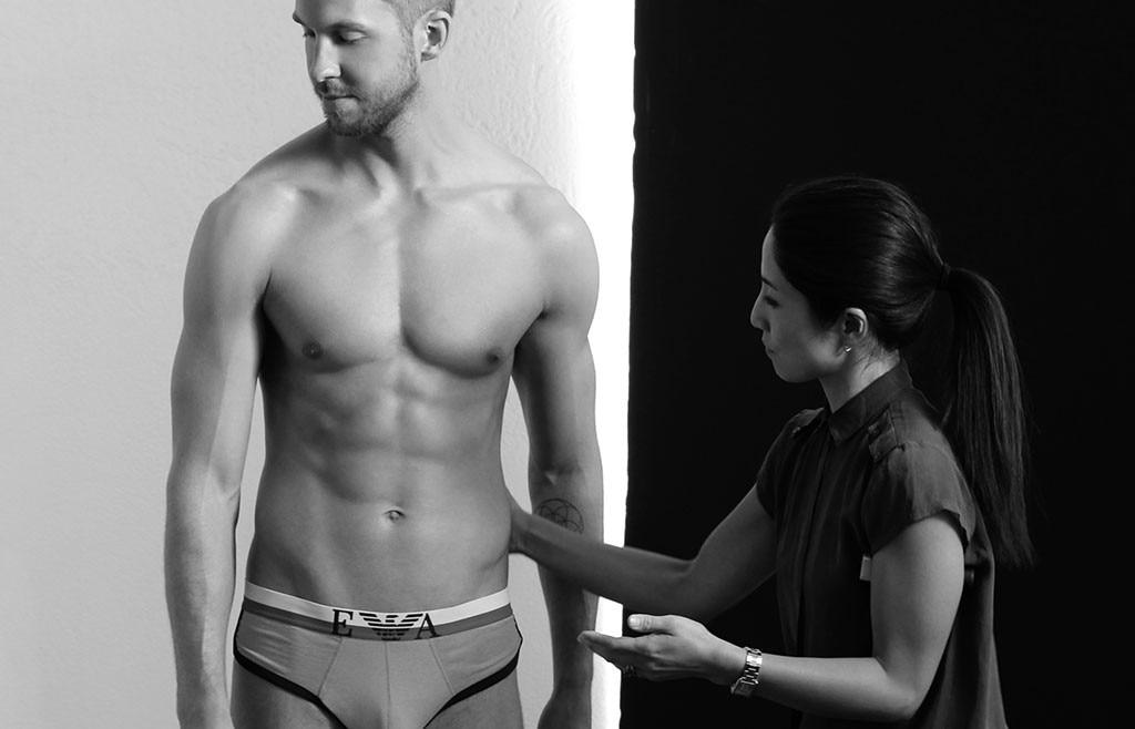 ... Harris' Bulge Is on Full Display in Emporio Armani Underwear Campaign Giorgio Armani