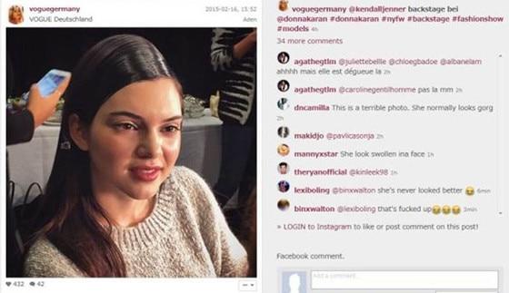 Kendall Jenner, Bullied, Instagram
