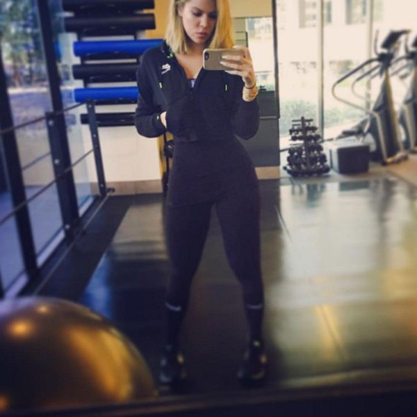 Baby steps from khloe kardashian s hottest gym pics