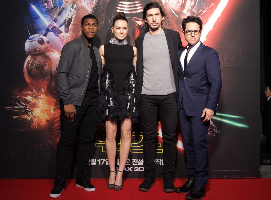 daisy and john dating Director jj abrams (2nd r), cast members john boyega (l), daisy ridley (2nd l), and adam driver pose for pictures with star wars character.