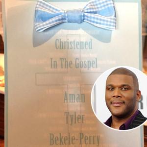 Tyler Perry, Aman Tyler Bekele-Perry, Christening