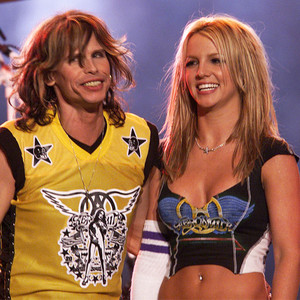 Britney Spears, Steven Tyler, 2001 Super Bowl