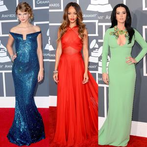 Rihanna, Taylor Swift, Katy Perry, Grammy Silhouettes