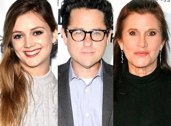 Billie Lourd, Carrie Fisher, J.J.Abrams