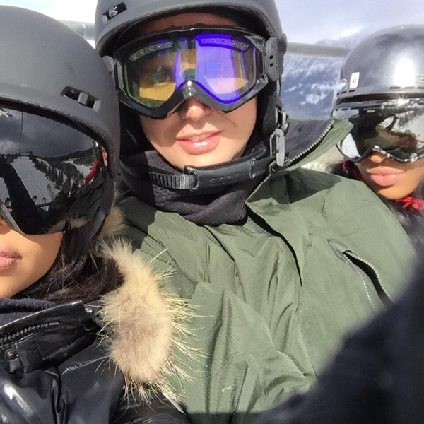Kim Kardashian and Pals Hit the Slopes After Kanye West ...