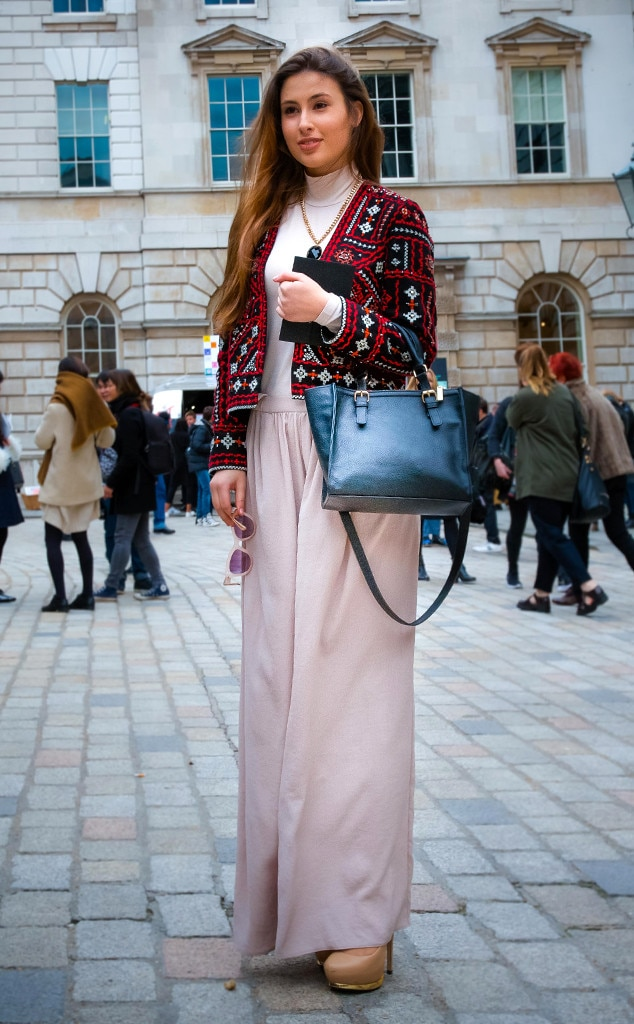 Ana Picioroaga From Street Style At London Fashion Week Fall 2015 E News