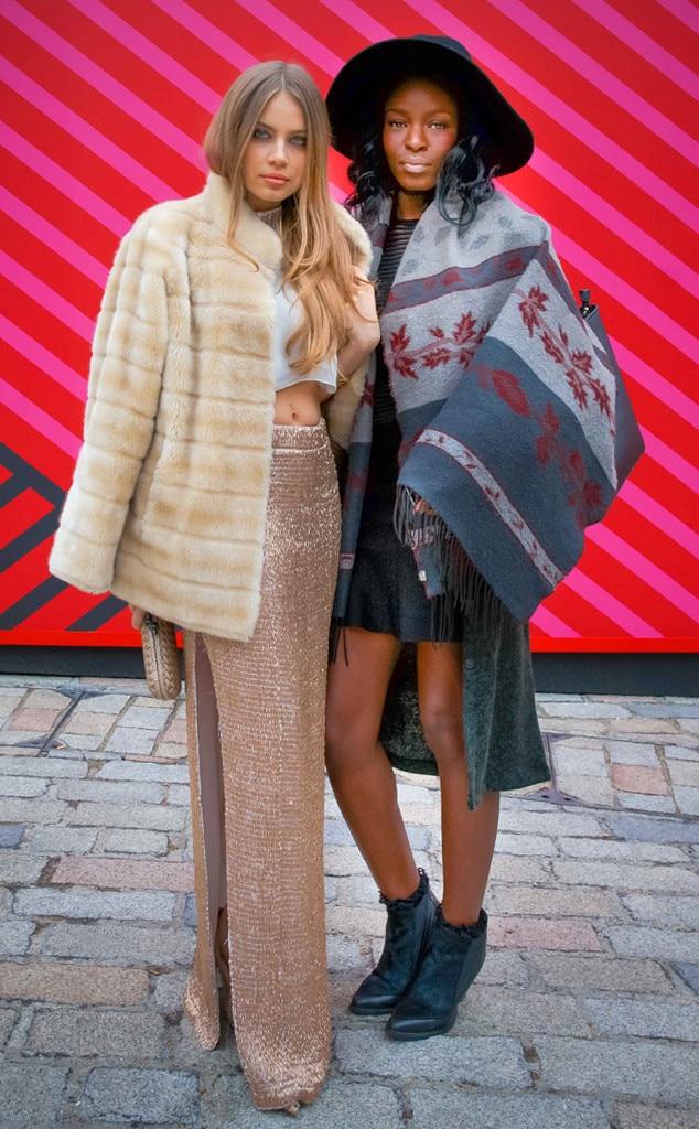 Xenia Tchoumitcheva Nicky Ade From Street Style At London Fashion Week Fall 2015 E News