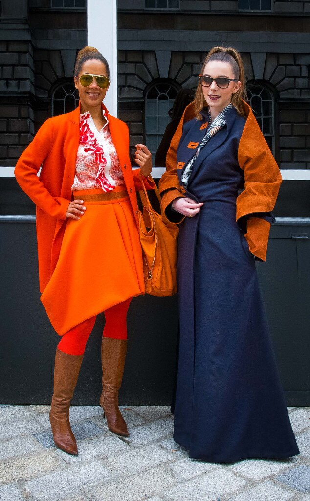 Hazel Aggrey Orleans Claire Le Cam From Street Style At London Fashion Week Fall 2015 E News