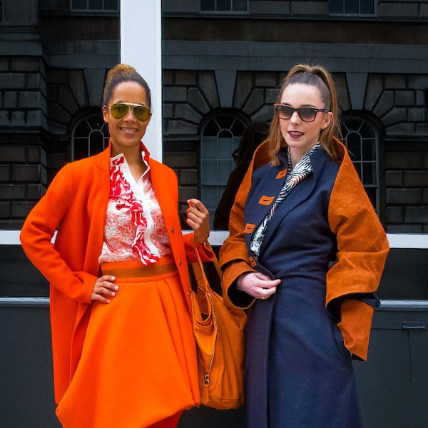 Hazel Aggrey Orleans Claire Le Cam From Street Style At London Fashion Week Fall 2015 E
