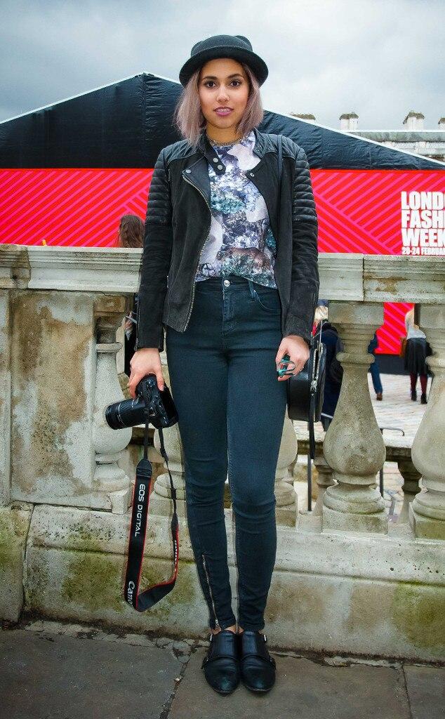 Taiba Al Nassar From Street Style At London Fashion Week Fall 2015 E News