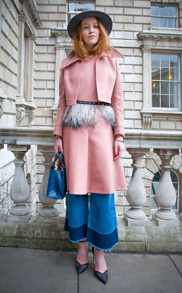 Christe Stankevciute From Street Style At London Fashion Week Fall 2015 E News