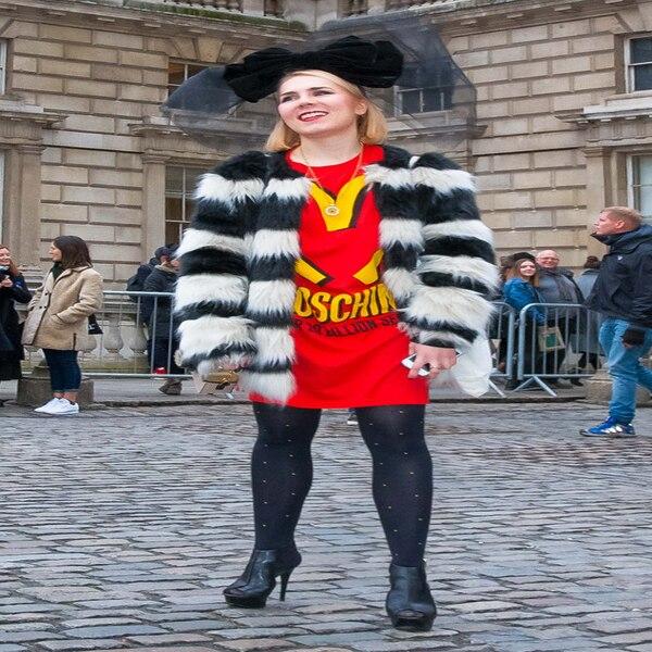 Adriana Krawcewicz From Street Style At London Fashion Week Fall 2015 E News Australia