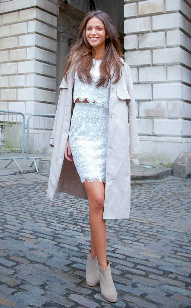 Michelle Keegan From Street Style At London Fashion Week Fall 2015 E News