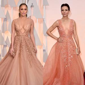 Jennifer Lopez, Luciana Duvall, 2015 Academy Awards