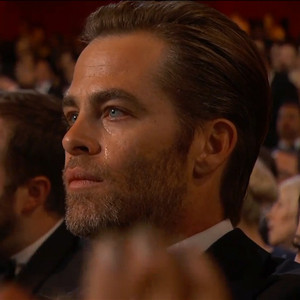 Chris Pine, Oscars, Crying, Epic Award Show Reactions