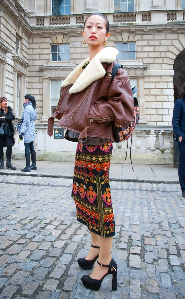 Grace Deveer From Street Style At London Fashion Week Fall 2015 E News Canada