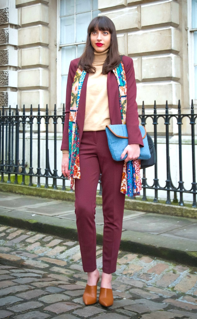 Amy Rose Watts From Street Style At London Fashion Week Fall 2015 E News