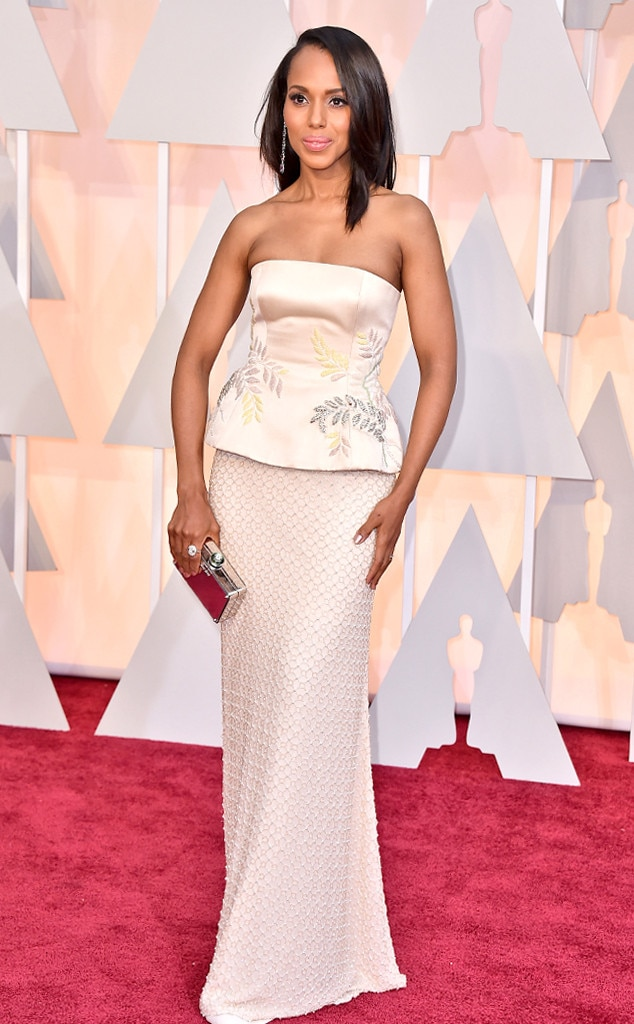 Kerry washington from 2015 oscars red carpet arrivals e news - Oscars red carpet online ...