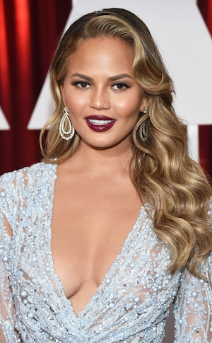 2015 Academy Awards, Chrissy Teigen, Hair, Beauty