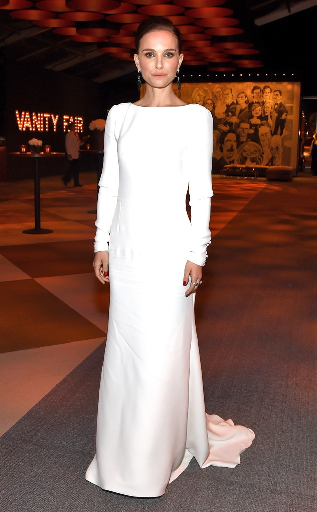 natalie portman from 2015 oscars afterparty looks plus