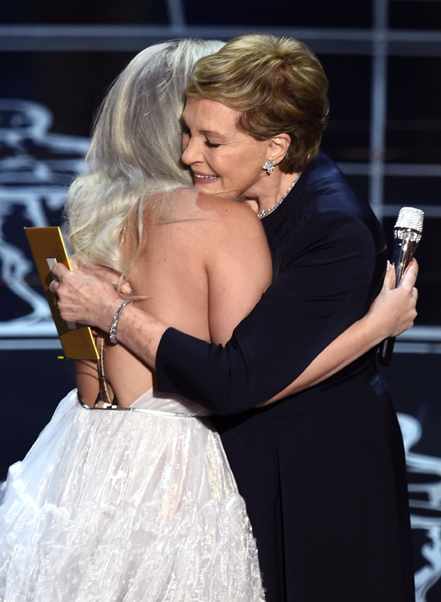 Lady Gaga, Julie Andrews, 2015 Academy Awards, Show