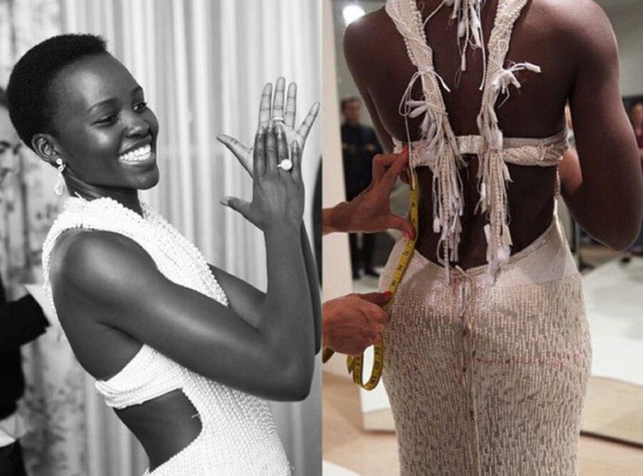 Lupita Nyong'o, Pearl Dress, Calvin Klein