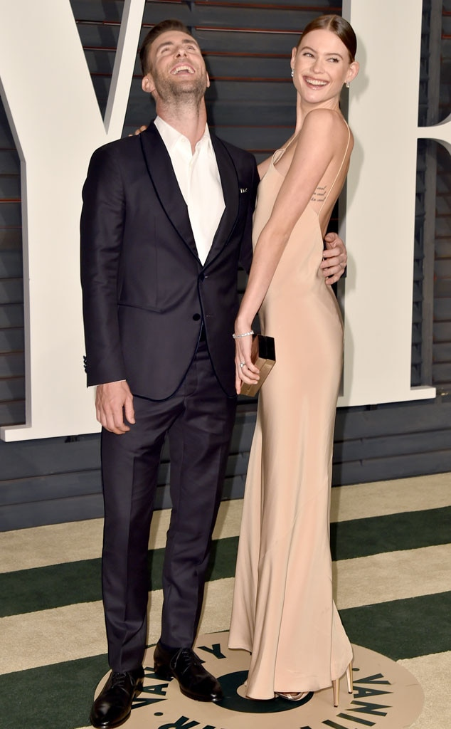 Adam Levine, Behati Prinsloo, Vanity Fair Oscar Party
