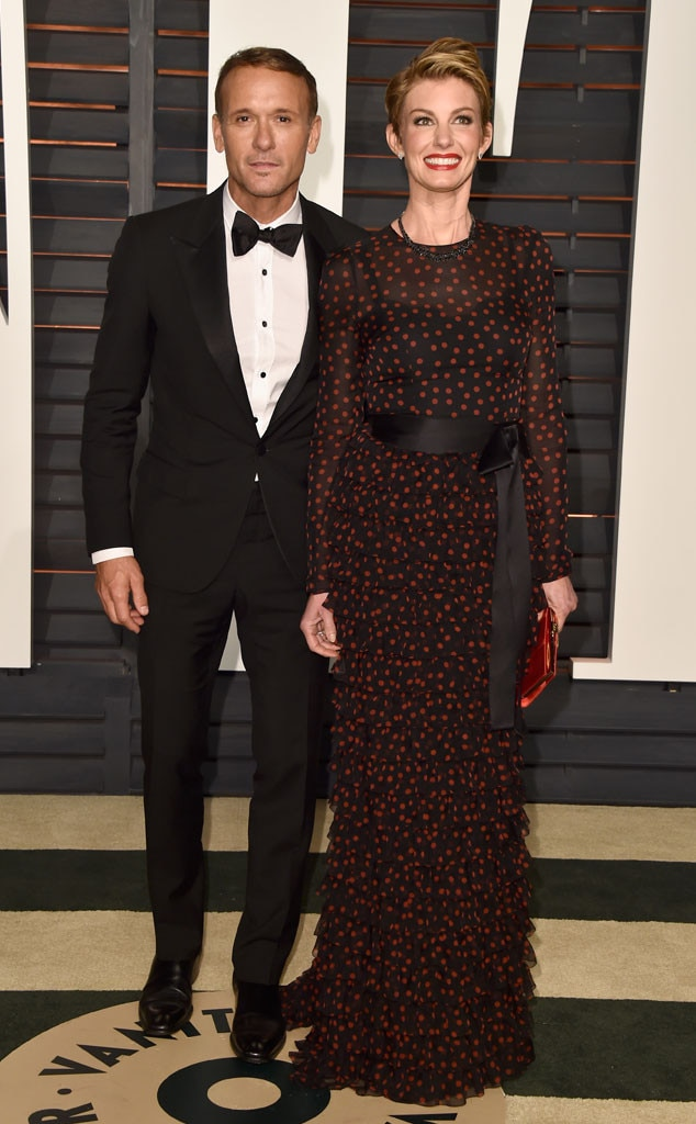 Tim McGraw, Faith Hill, Vanity Fair Oscar Party