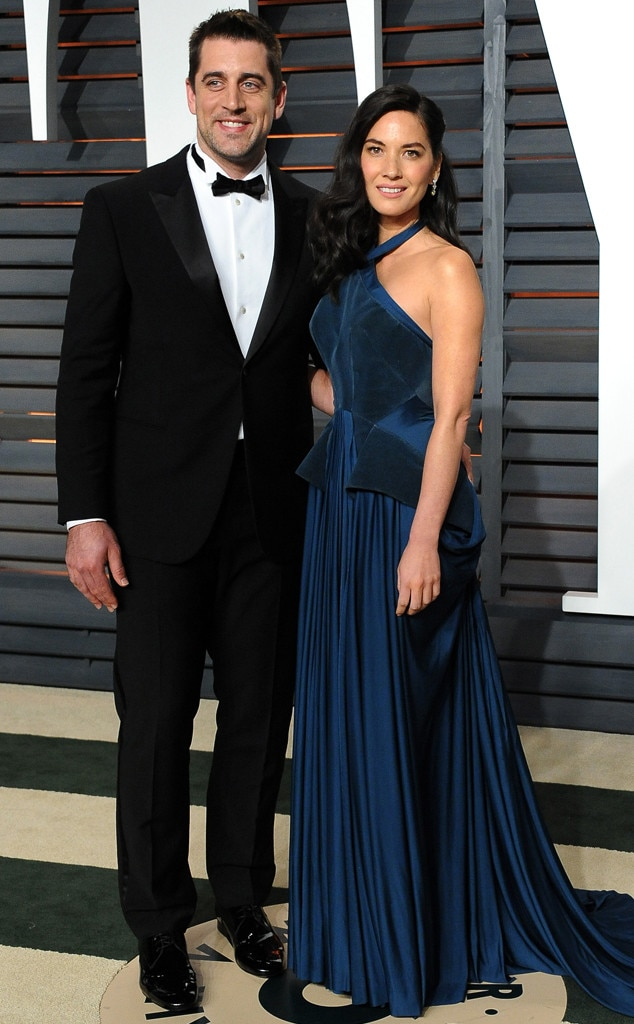 Aaron Rodgers, Olivia Munn, Vanity Fair Oscar Party
