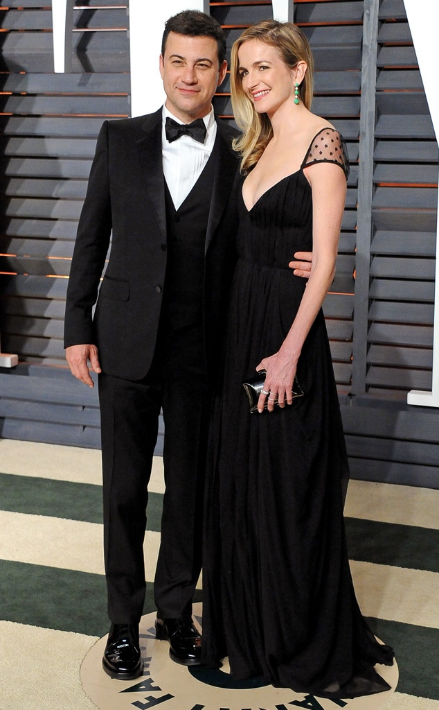 Jimmy Kimmel, Molly McNearney, 2015 Vanity Fair Oscar Party