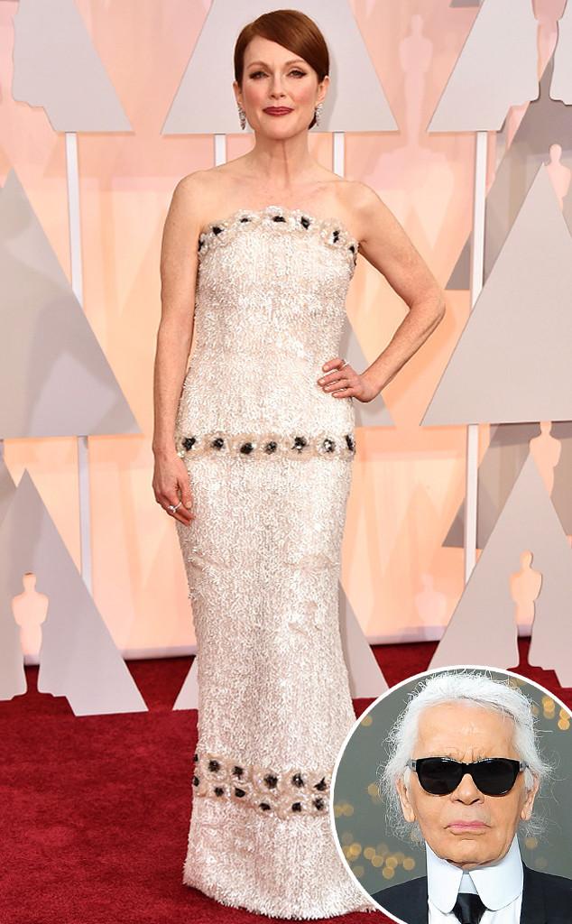 Julianne Moore, Karl Lagerfield, 2015 Academy Awards Oscars