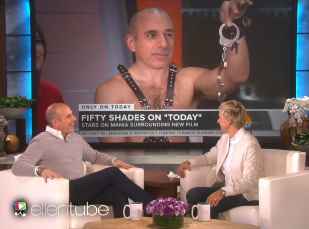 Matt Lauer, Ellen DeGeneres, 50 Shades